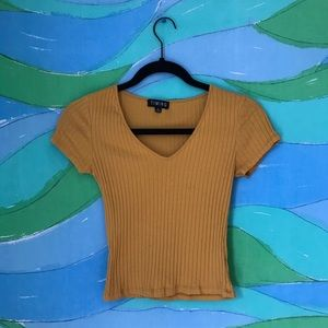 🌈 CHOOSE 3 for $30 TIMING yellow ribbed tshirt